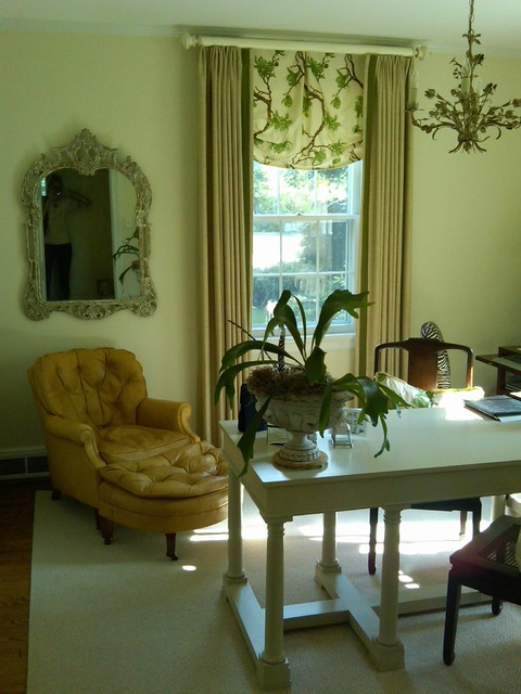 Feminine Office traditional-home-office