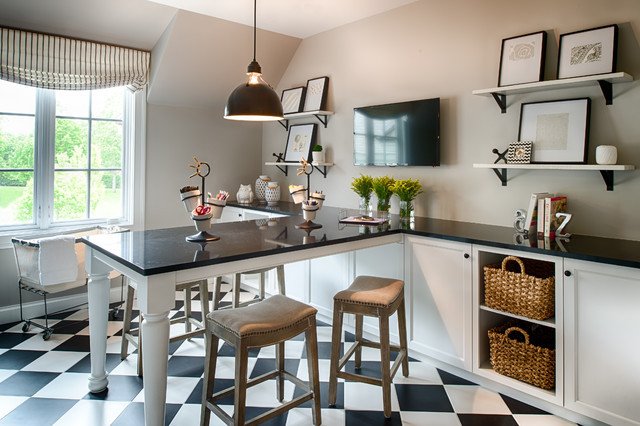 Ferndale - Traditional - Home Office - minneapolis - by Studio M Interiors