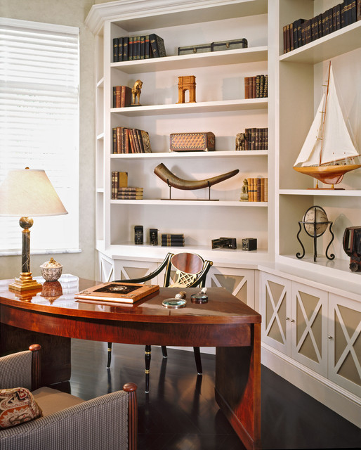Fisher Island Traditional Home Office