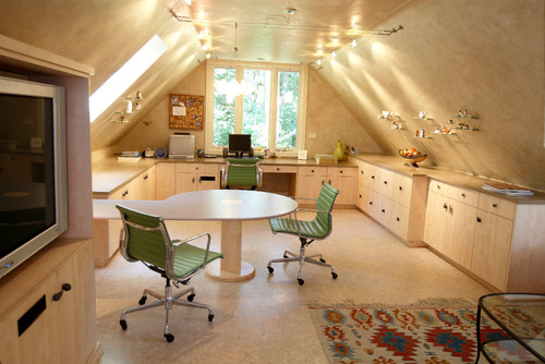 contemporary home office Cozy Attic Conversions