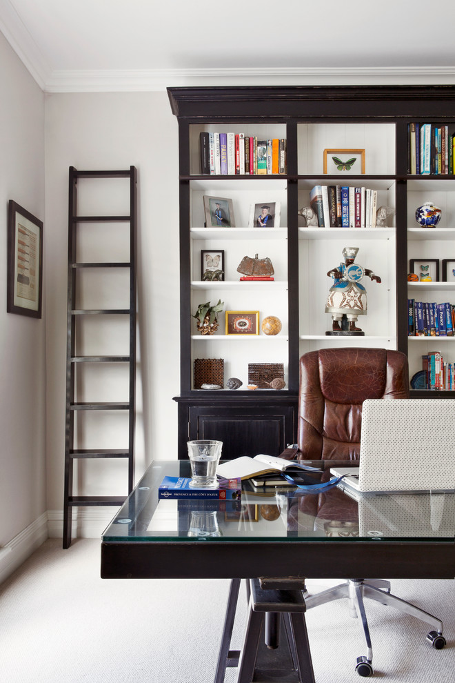 Inspiration for a coastal home office remodel in Perth