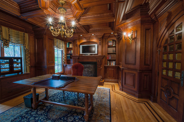 Formal Library Traditional Home Office New York By