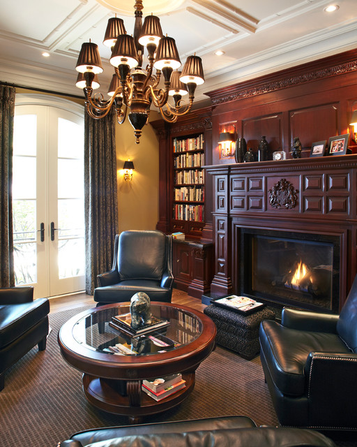 formal library traditional home office atherton library traditional home office