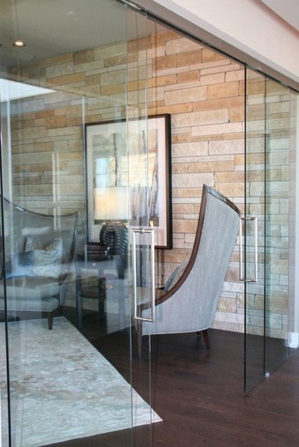how to install a bathroom mirror frameless sliding glass door traditional home office 25410