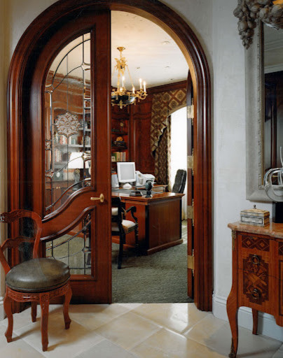French Chateau Library traditional-home-office