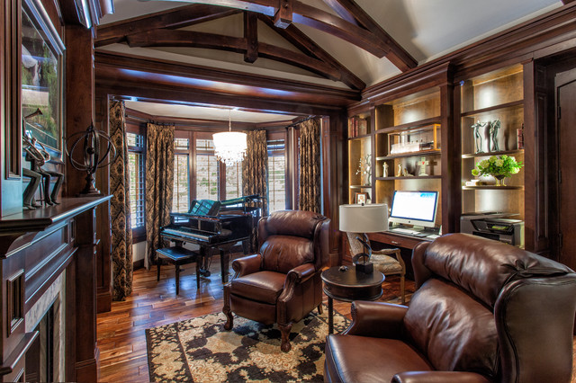 French Country European Style Home American Traditional Office