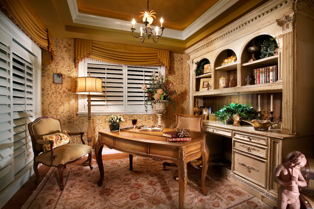 French Country Office Traditional Home Tampa