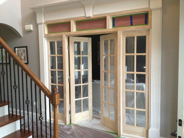 French Door Installation Office Contemporary Home
