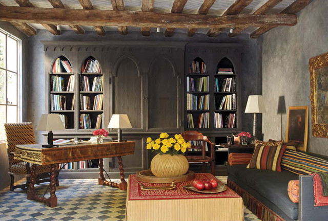 Fresco Library Mediterranean Home Office