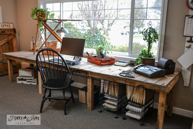 Funky Junk Interiors Full Home Tour Eclectic Home Office - Funky home office ideas