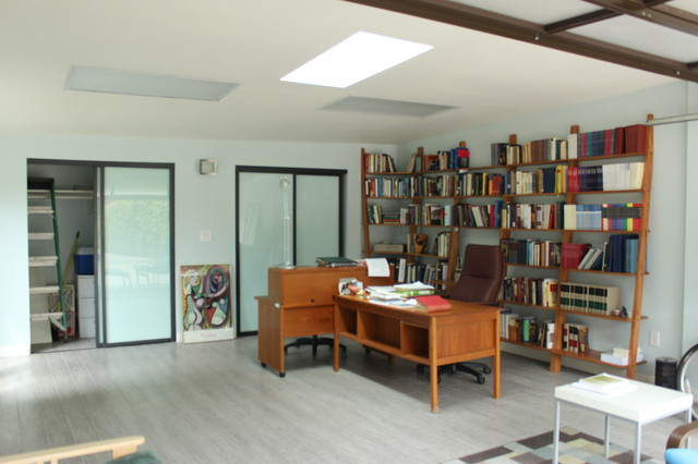Garage Conversion Contemporary Home Office Los Angeles by