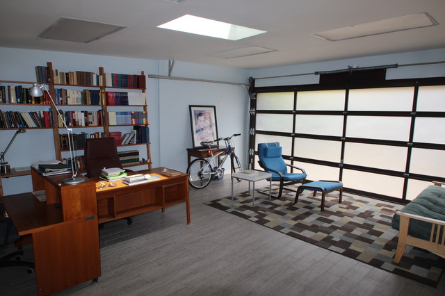 decorating ideas for garage turned family room - Garage Conversion Contemporary Home fice los