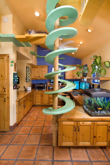 Garden Oasis Cat Walk Fun eclectic-home-office