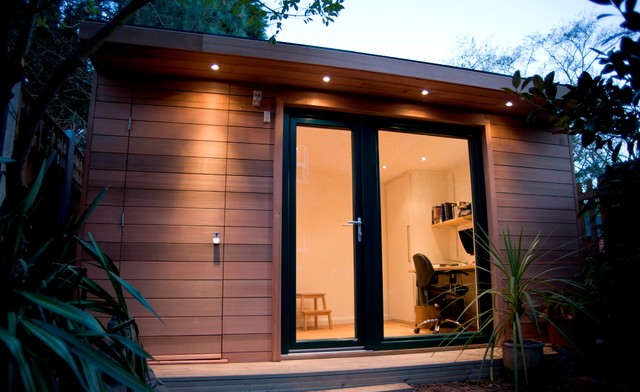 Garden Office With Storage London Contemporary home office