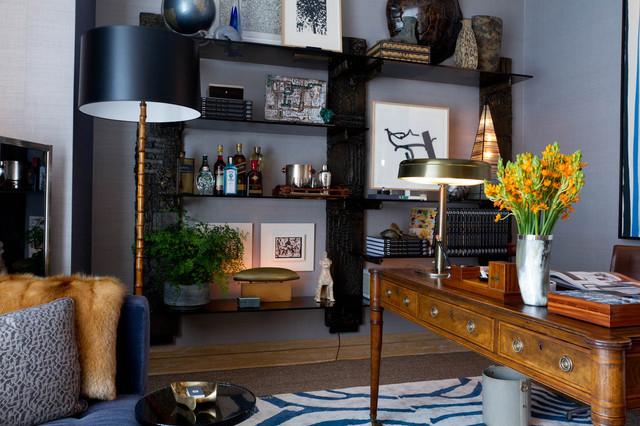 Gentleman's Study: David Scott Interiors contemporary-home-office