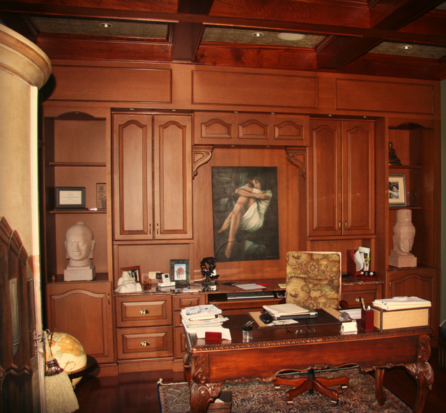 Gentlemans Study Mediterranean Home Office Tampa