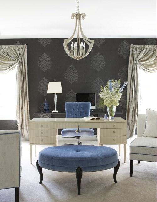 Glamorous home office eclectic bedroom