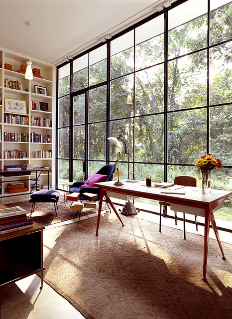 Glass House Eclectic Home Office Other By Michael Haverland
