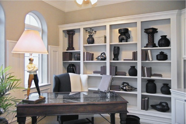 Golden Scroll eclectic-home-office