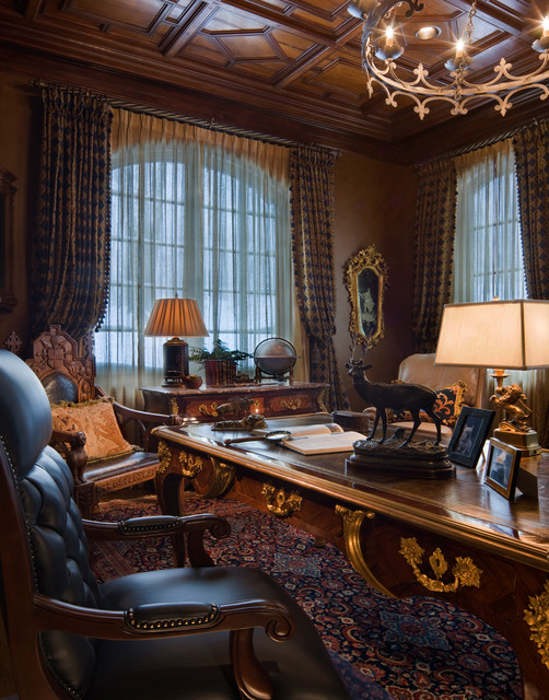 Gothic Office By Jessica Helgerson Interior Design: Gothic Castle In The Blue Ridge Mountains