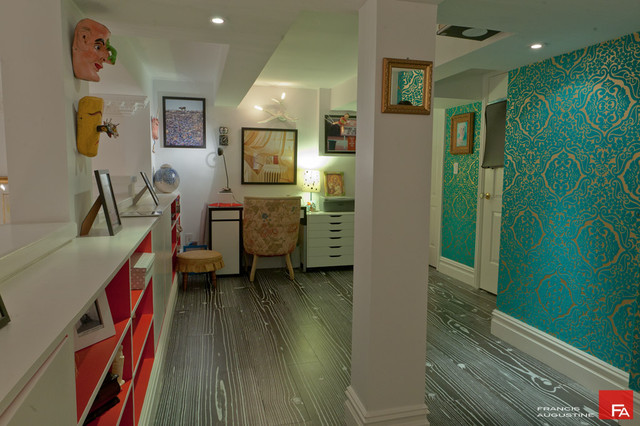 Gramercy loft vintage home office eclectic-home-office