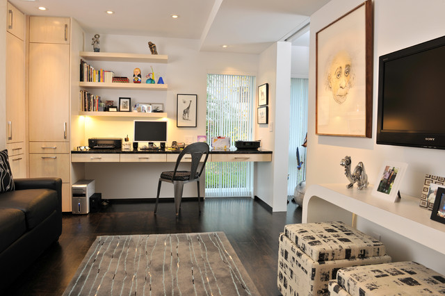 Grand Condo Contemporary Home Office Other Metro By Catherine Renae Thomas Design Co
