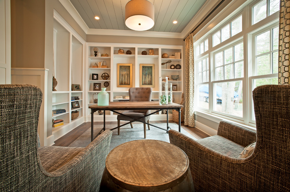 Inspiration for a coastal home office remodel in Columbus