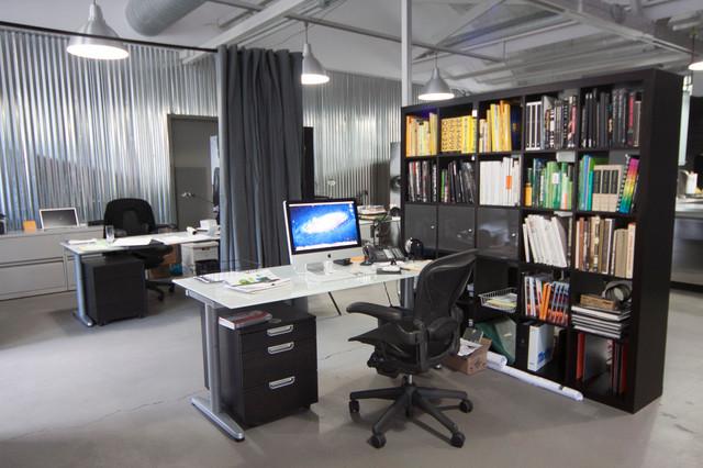 Gray Loft Style Room Divider Kit Modern Home Office Library