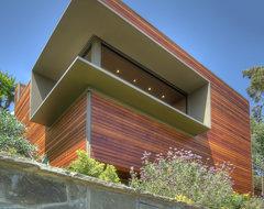 Green Oak Writer's Studio modern-home-office