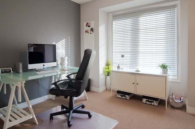 Incroyable Grey And White Office Contemporary Home Office