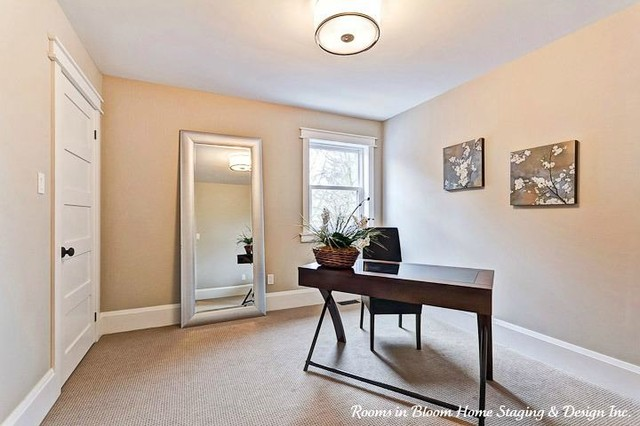 Guelph Home Staged & SOLD traditional-home-office