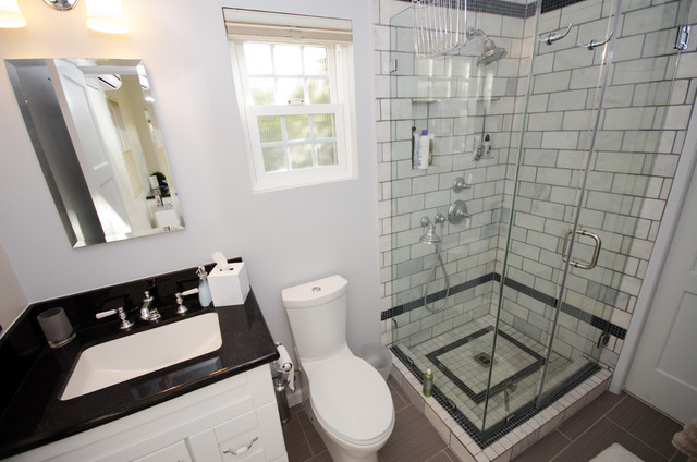 Guest house bathroom contemporary home office los for Office bathroom designs