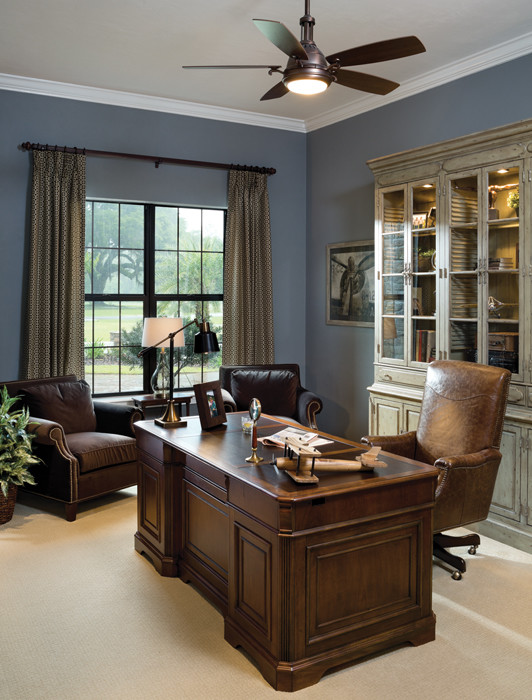 Elegant home office photo in Tampa