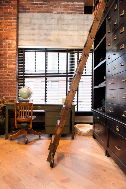Hamilton Eclectic Industrial Industrial Home Office
