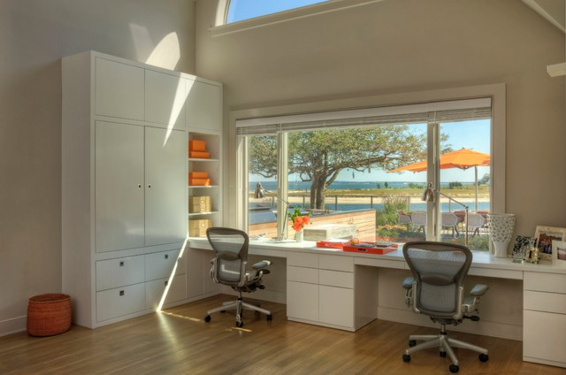 Hamptons House Beach Style Home Office New York By