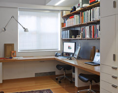 Harlem Residence Office contemporary-home-office