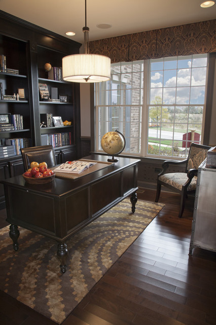 Hawthorn Woods Columbia Study traditional-home-office