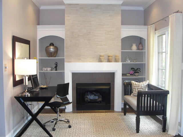 Hearth Room contemporary home office