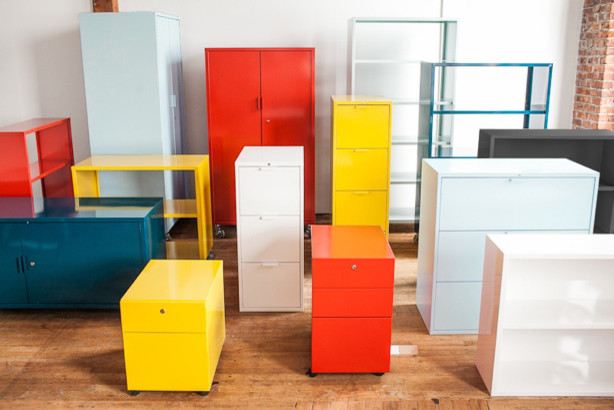 Heartwork Metal Storage 1.0 modern-home-office : colorful filing cabinets - Cheerinfomania.Com
