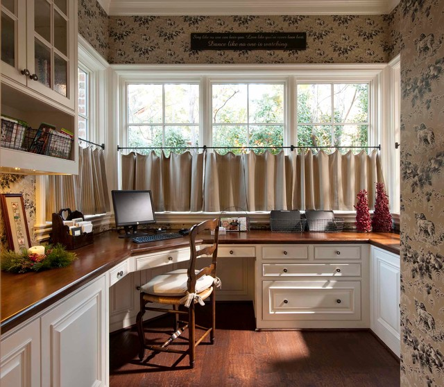 Her Office - Traditional - Home Office - dallas - by Chambers Interiors & Associates, Inc.