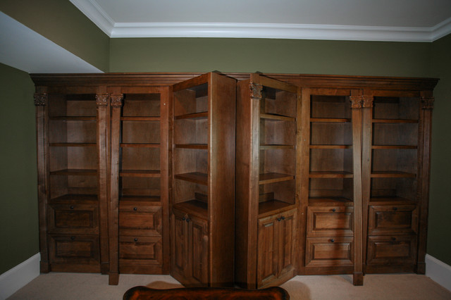 Hidden gun safe - Traditional - Home Office - Atlanta - by Cabinets Of Atlanta Inc.