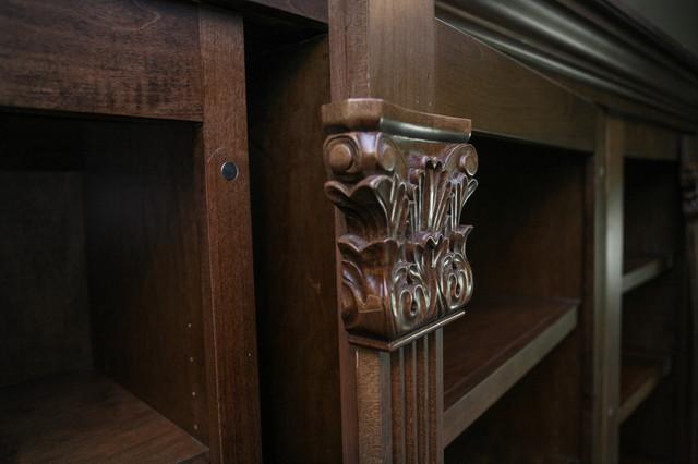 Hidden Gun Safe Traditional Home Office Atlanta By