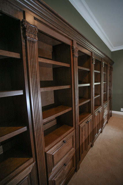 Hidden Gun Safe Traditional Home Office Atlanta By