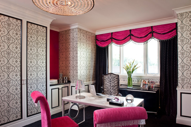 girly office. Hidden Hills, CA Contemporary-home-office Girly Office Z