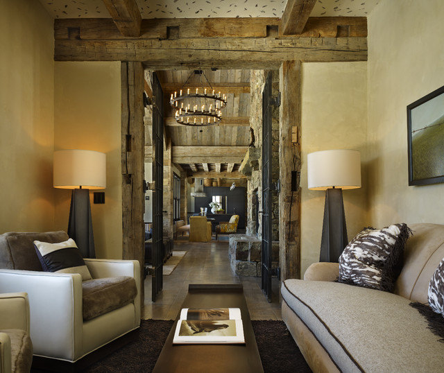 Yellowstone Residence Den Rustic Home Office Denver
