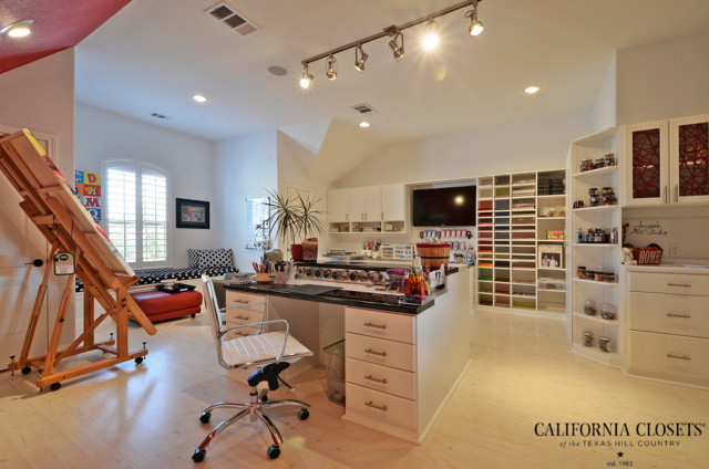 High Class Craft Studio Eclectic Home Office Austin