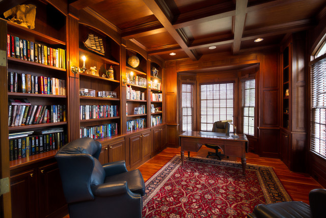 High End Home Office Traditional And Library