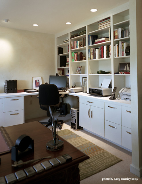 Highrise Interior Renovation contemporary-home-office