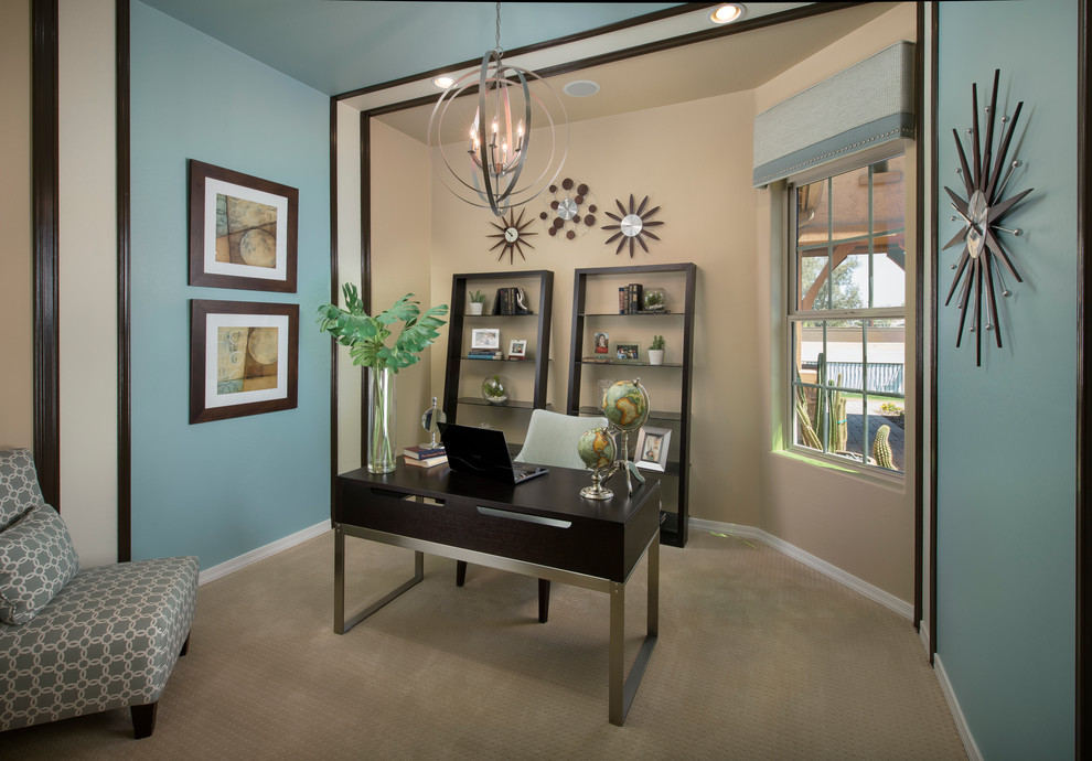 Home office - contemporary home office idea in Phoenix