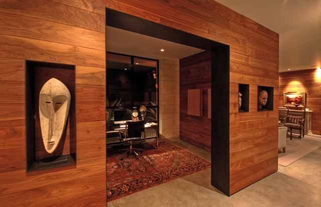 Hill Country Residence Modern Home Office Austin